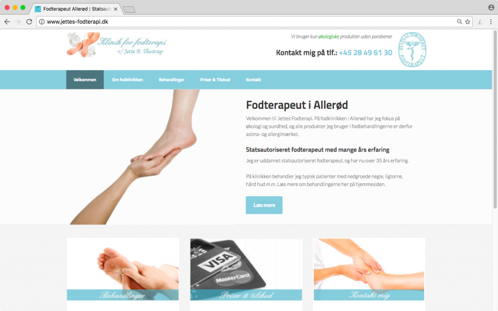 Get your website and marketing in Manchester sorted by Waimea - Jette's Foot Clinic